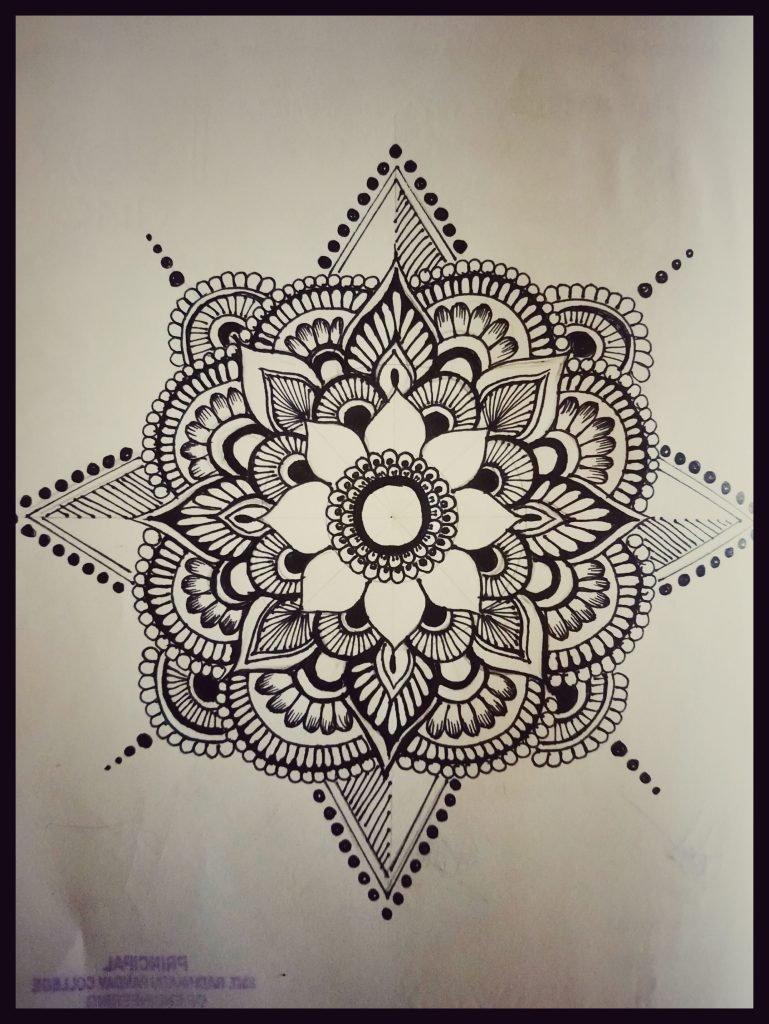Mandala Art Work Flower