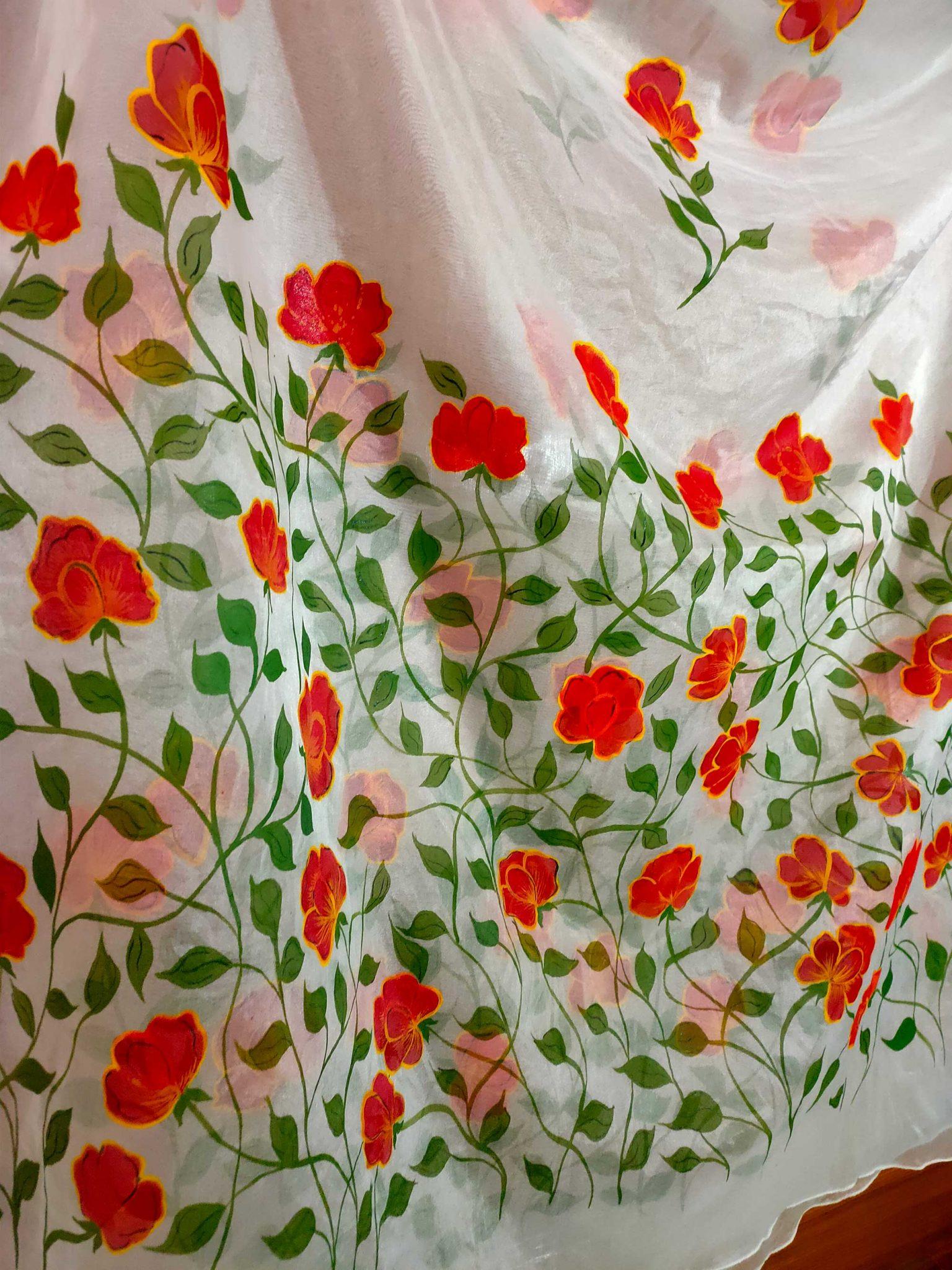 Floral Duppata Design 1