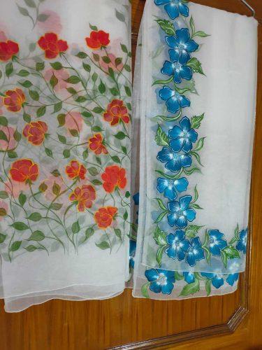 Floral Duppata Design 3