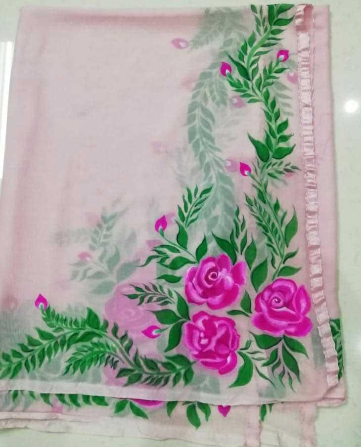 Floral Duppata Design 4
